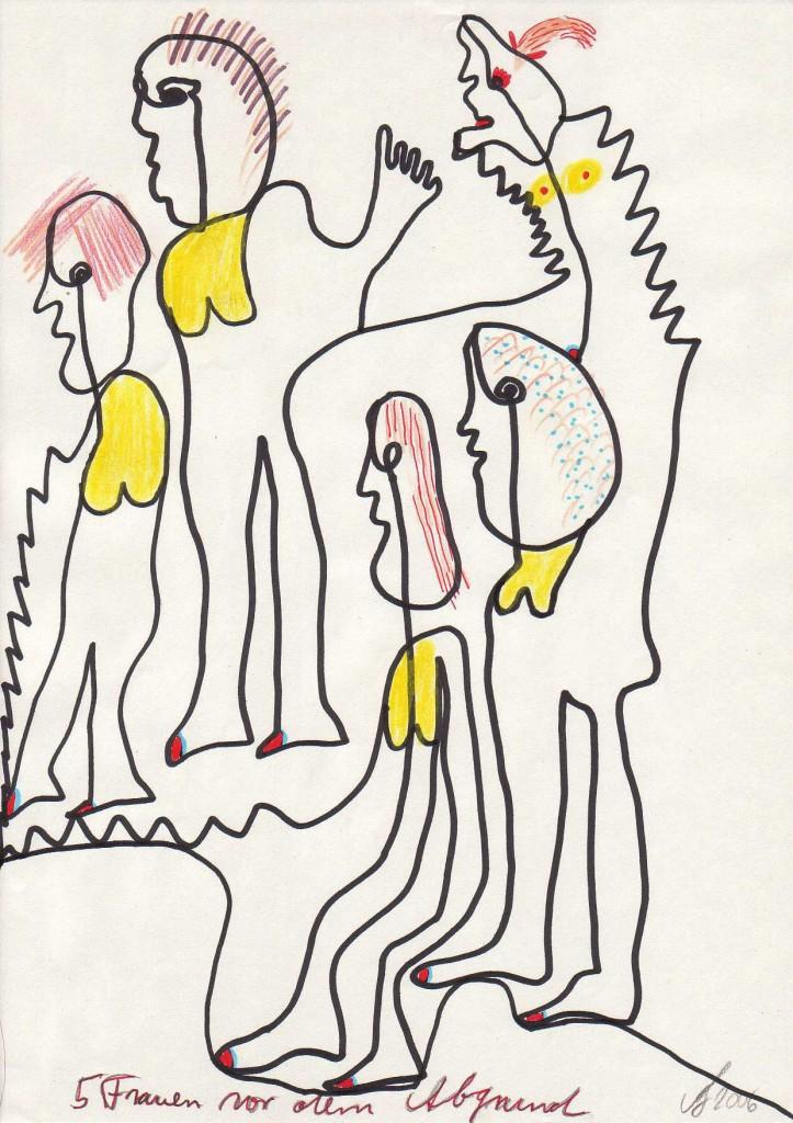 Fünf Frauen vor dem Abgrund